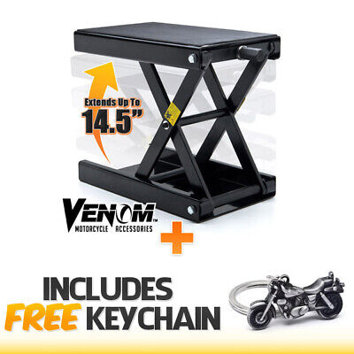 Motorcycle Center Jack Hoist Scissor Lift Stand Dirtbike ATV+Cruiser Keychain