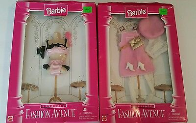 1996 Barbie Doll Clothes Fashion Avenue Lingerie, Deluxe Pink Outfit  W/ Boxes