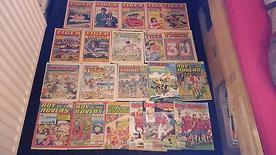 Vintage Tiger and Roy of the Rovers Comic's x 21;1977-1989 With Special Issues
