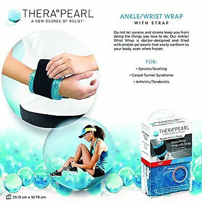 Ankle Wrist Pain Compress Wrap Sprain Reusable Hot Cold Therapy Pack Gel Beads
