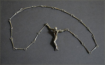 Collectable Spanish Solid Silver Salvador Dali Christ Necklace Pendant Jewelry
