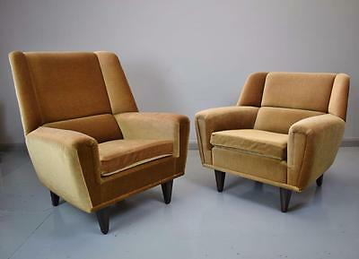 Pair of Mid Century Danish Kurt Ostervig 'His & Hers' Model 61 Lounge Arm Chairs