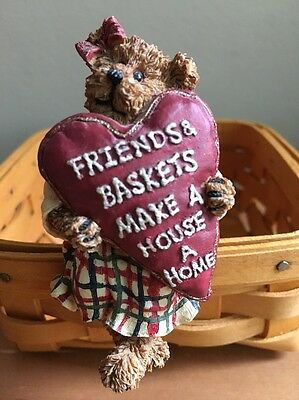 Longaberger / Boyds Bears & Friends Basket Sitter - Friends & Baskets