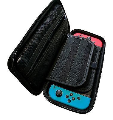 Nintendo Switch EVA Hard Carry Case/Accessories Rooms and 19 Game Card Holder