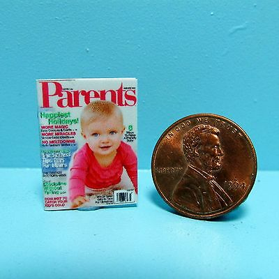 Dollhouse Miniature Replica Magazine Parents with Pink Cover ~B055
