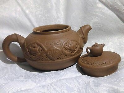 Chinese Contemporary ZISHA Signed YIXING Teapot Decorrated with Teapots