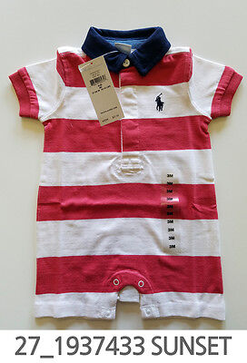 Polo Ralph Lauren Baby Toddler Clothing Romper 3/6/9 Months New w Tag #27