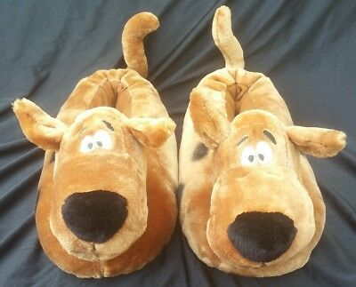 Scooby Doo Slippers 1997 Warner Brothers WB L Large Brown Adult Size