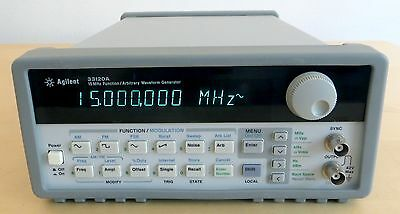 HP / Agilent 33120A Opt 001 15MHz Function / Arbitrary Generator. Tested. Clean