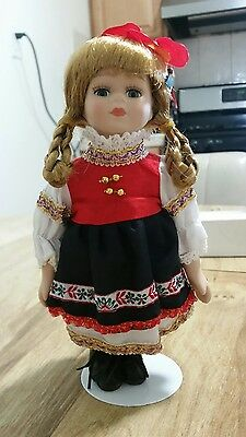 """Petite Porcelain dolls of the world """"Devony"""" collector's doll"""
