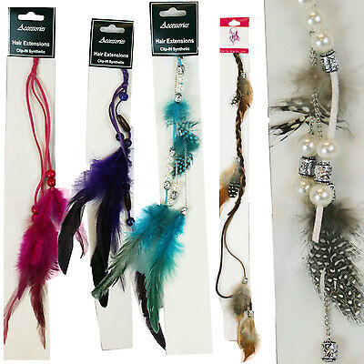 Wholesale Lot of 100 Assorted Feather Hair Extension Colorful Instant Highlights