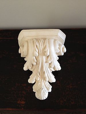 Large Molded Plaster  Wall Sconce Corbel Shelf Bracket Home Decor NWT