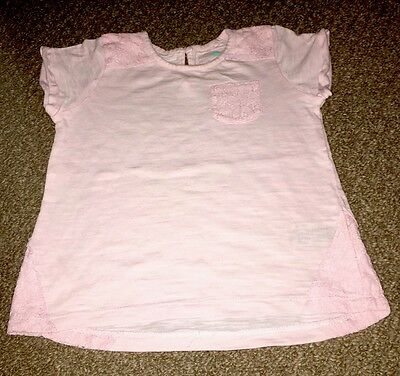 Girls Lace Detailed T-Shirt From Next - Size 1½-2 Years