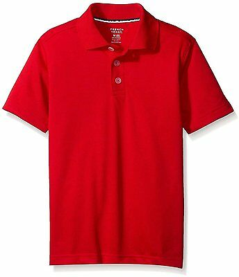 French Toast Boy's School Uniform Red Short Sleeve Sport Polo Shirt NWT Size 5/6