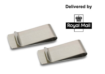 Stainless Steel Silver Money Clip Holder Cash Gift Mens Wedding Favour [Defects]