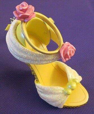 New Disney Parks Belle Runway Shoe Ornament Christmas Beauty & the Beast