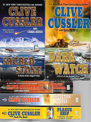 10 By Clive Cussler,all In Oregon Files Series,complete In Pb. Silent Sea,piranh