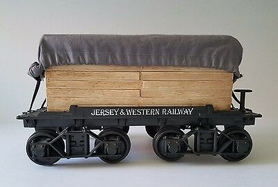 Vintage JIM BEAM Decanter Jersey & Western Railway Lumber Train Car ~ Ex. Cond.