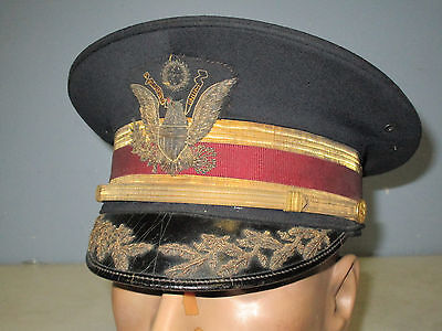 Us Army M1912 Medical Field Officer Full Dress Hat Heavy Bullion Embroidery