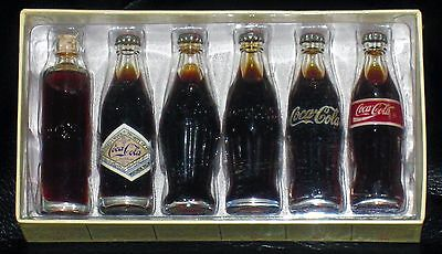 Vintage Evolution Of The Coca Cola Contour Bottle New 1998 Coke