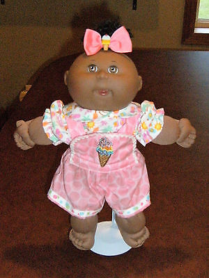 "14"" Cabbage Patch Preemie Doll Clothes~Short Overalls/Pants & Top w/Hair Bow"