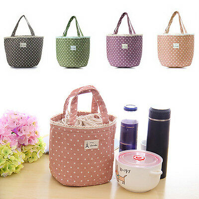Thermal Insulated Lunch Box Carry Tote Cooler Small Bag Lunch Container Kawaii