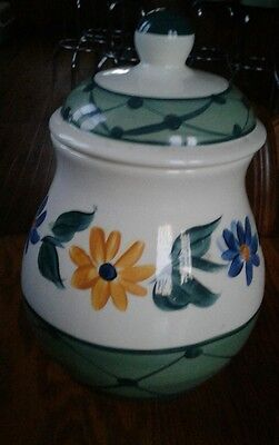 "Gail Pittman - Annabelle Flowers 1995 - Canister -  9""  (134)"