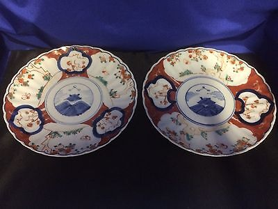 Antique Japanese Imari Plates Lot Of 2