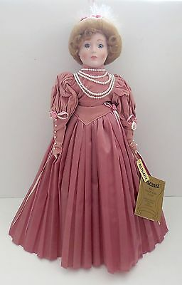 """Seymour Mann Connoisseur Collection Porcelain 20"""" Doll Bethany"""