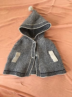 Country Road Baby Knit Jacket Size 6-12 Months (small Fit)
