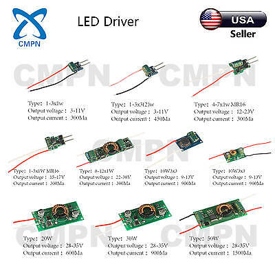 3W 5W 10W 20W 30W 50W High Power LED Driver Supply AC 12-24V Constant Current