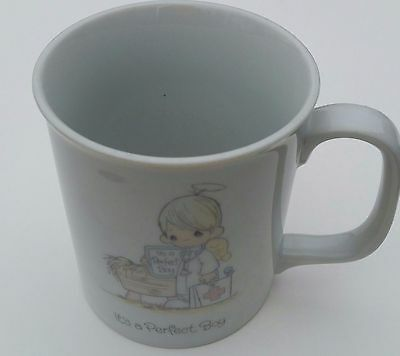 Baby Precious Moments Collection It's a Perfect Boy Mug Cup 1985 Collection vtg
