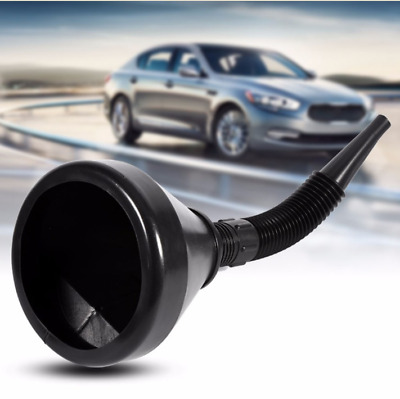 Nice Motor Car Black Plastic Flexible Funnel Can Spout For Oil Water Fuel Petrol