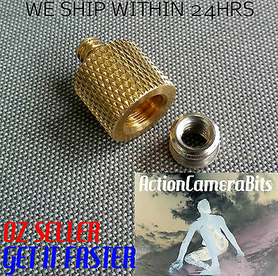 3/8'' Female to 1/4'' INCH Male Brass Tripod Thread Reducer Adapter Camera DSLR