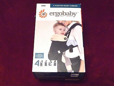 ErgoBaby 4 Position 360  Baby Carrier (Baby to Toddler) ~ BLACK and CAMEL ~ NEW