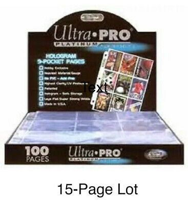 3-Pack of 50 (150 Total) Ultra Pro Vintage Penny/Soft Card Sleeves No PVC