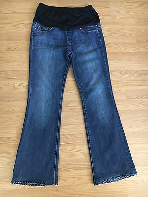 Paige Maternity Laurel Canyon Boot Cut Stretch Jeans Size 31