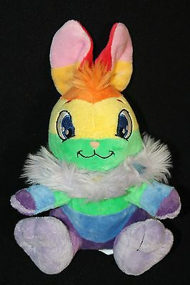 "Neopets Rainbow Cybunny Stuffed Plush 9"" 2007 New w/Tag"