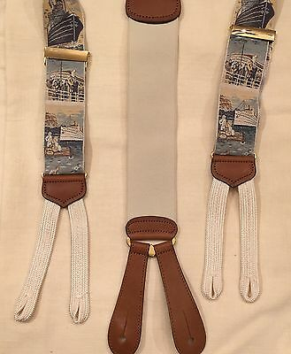 Trafalgar Vintage Titanic Cruise Ship Suspenders Braces Limited Edition Men's