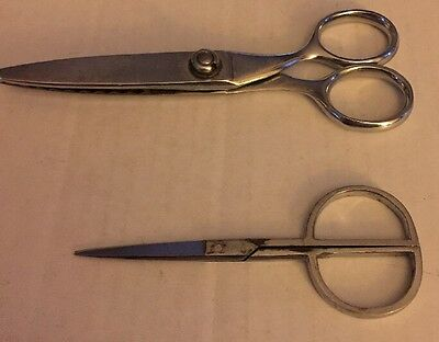 Sewing Scissors Set Of 2 Zig Zag Marked Wiss Vintage A