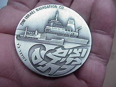#788 Israel State Medal Zim 1970 Sterling Silver 25Th Anniversary