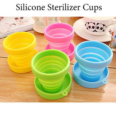New 100% Soft Menstrual Cup Silicone High Temperature Folding Sterilizer Cups