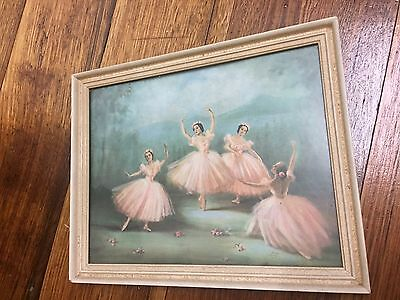 Antique Ballerina Picture & Frame