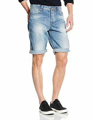 blu S TOM TAILOR DENIM RELAXED E DENIM BERMUDA/504 JEAN DA UOMO (BLAU (UPER TONE