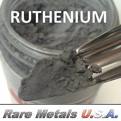 RUTHENIUM POWDER: 1.0 GRAM 1g 99.97% PURE SAMPLE PRECIOUS PGM | RARE METALS USA!