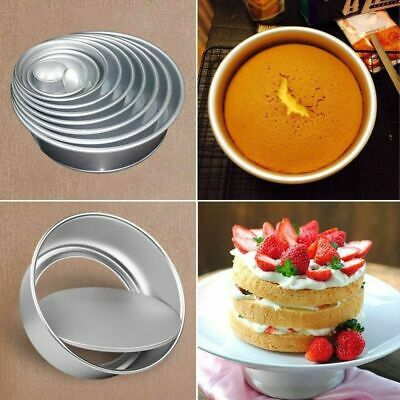 "2/4/6"" Aluminum Alloy Round Mini Cake Pan Removable Mold DIY Baking Tools"