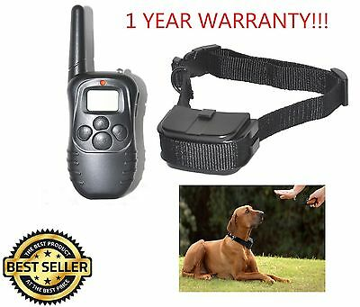 Remote Pet Training Collar With Lcd Display 100 Levels Of Vibration Single Train
