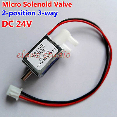 DC 24V 2-position 3-way Small Mini Electric Solenoid Valve Gas Air Exhaust Valve