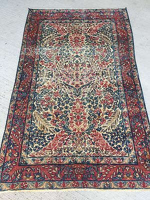 Ancien Tapis Persan Kerman Lavar 142x88cm Tappeto Alfombra Antique Carpet Rugs