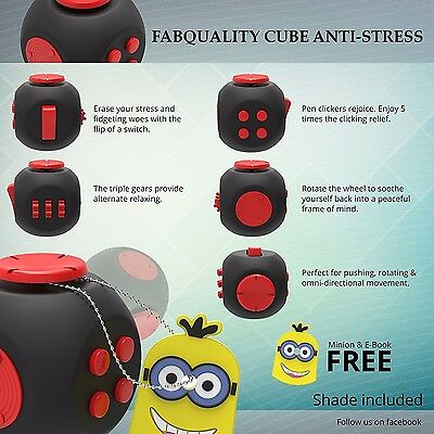 Fidget Cube X2 Stress Anxiety Attention Relief. ADHD 6-Sided Desk Toy Kids Adult